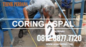 coring aspal